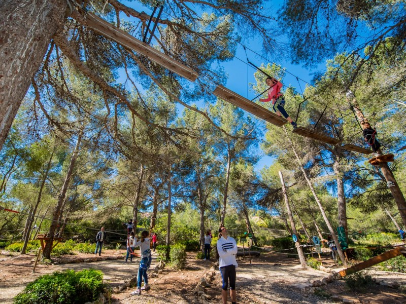 Майорка, отдых с детьми, веревочный парк