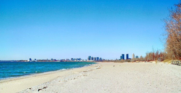 Hanlan's Point на острове в Торонто