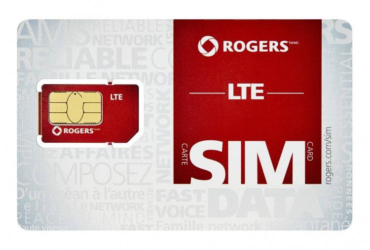 Сим-карта мобильного оператора Rogers Wireless в Канаде