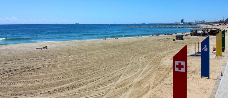 Пляжи Барселоны, фот. Пляж Mar Bella