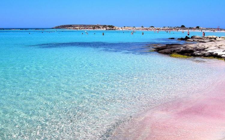 Розовый пляж, Крит