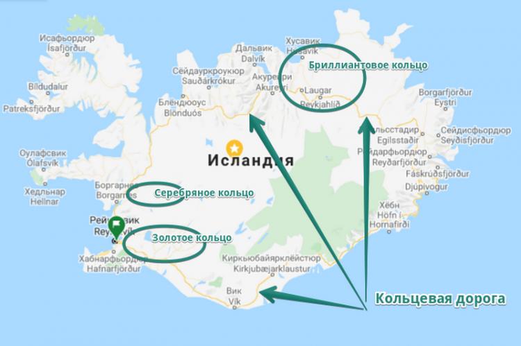 Круговые маршруты по Исландии