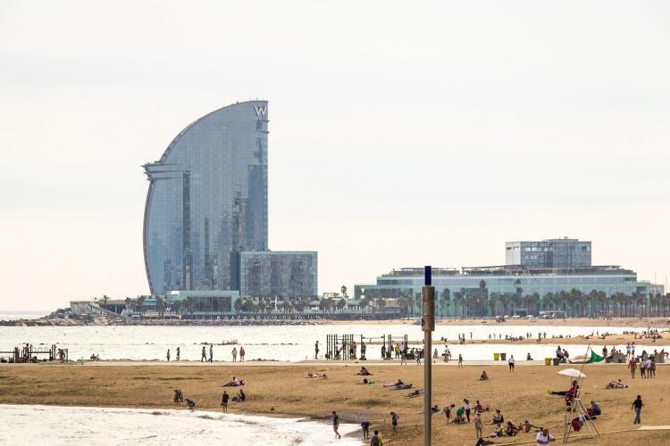 Пляж San Sebastian, Барселона