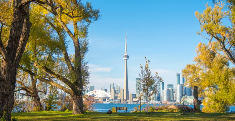 Островной парк в Торонто