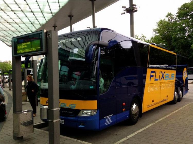 Flixbus автобус в Германии
