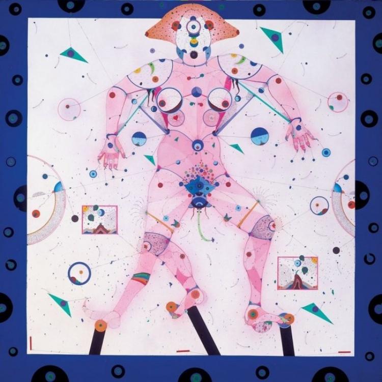 Картины в музее современного искусства, Барселона
