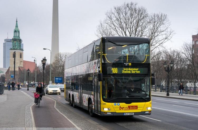 Берлинский двухэтажный автобус