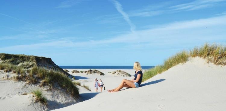 Пляж на острове Амрум в Германии
