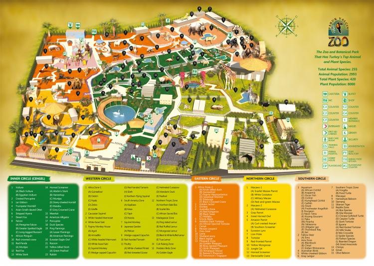 Карта зоопарка, Стамбул