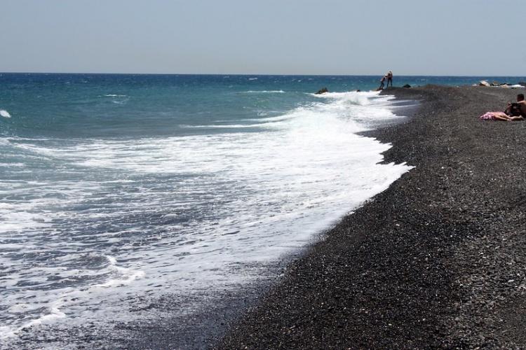Греция, пляжи, Санторини