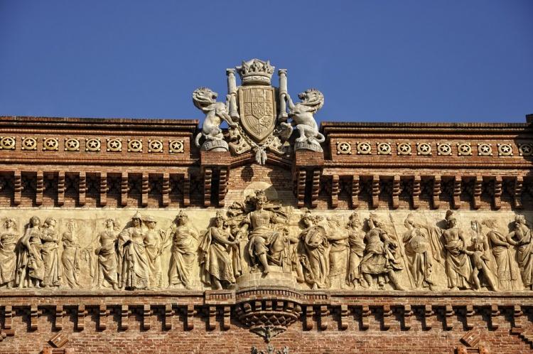 Триумфальная арка, Барселона, детали
