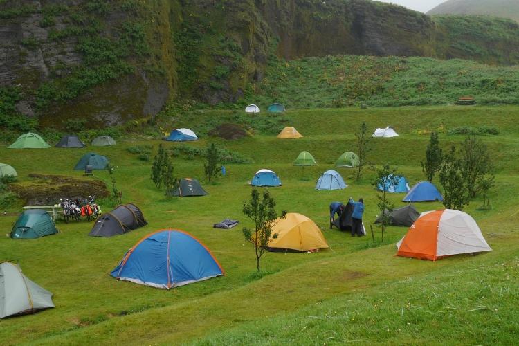 Места стоянки туристов в Исландии