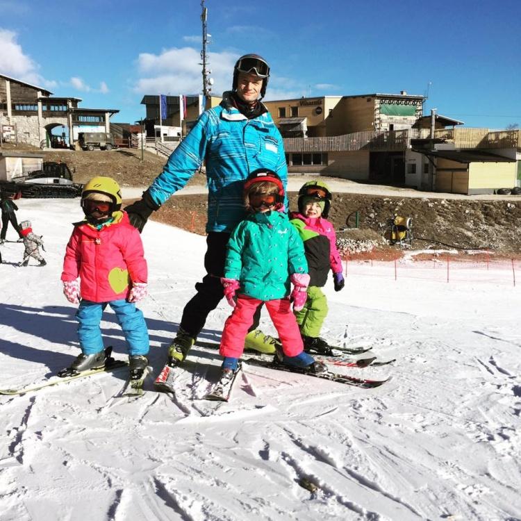 Обучение катанию на лыжах в Бохинь