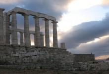 Мыс Сунион в Афинах и Храм Посейдона на мысе Сунион