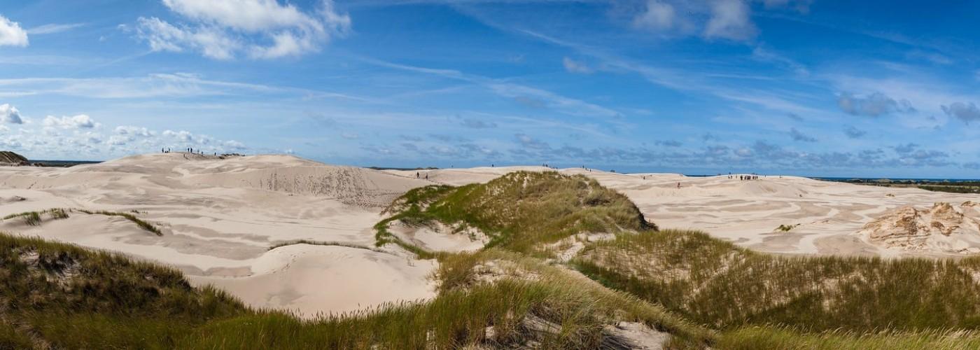 Скаген, Дания и мыс Гренен: песчаные дюны Råbjerg Mile и два моря