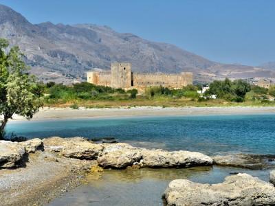 Деревня, пляж и крепость Франгокастелло, Крит