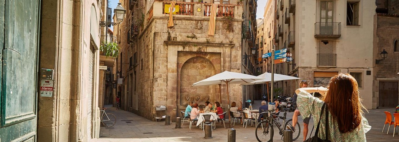 Готический квартал в Барселоне