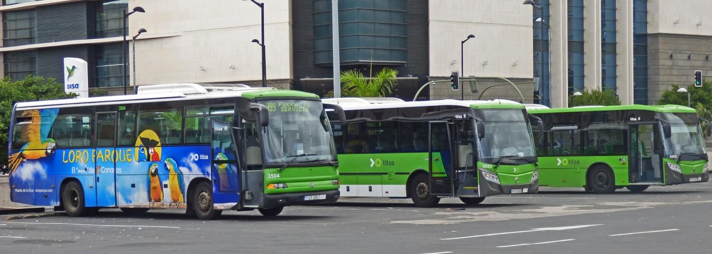 Общественный транспорт Тенерифе: как передвигаться по острову без авто?