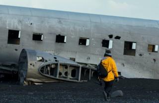 Место крушения самолета DC-3 в Исландии