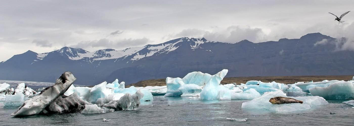 Ледниковая лагуна Йёкюльсаурлоун и Бриллиантовый пляж