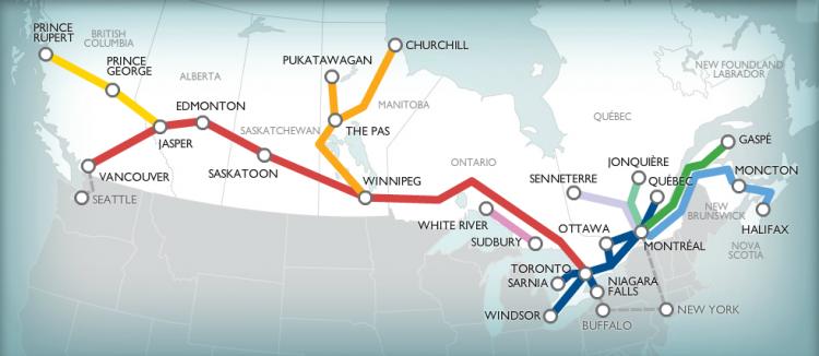 Трансконтинентальная КанадскаяТихоокеанская Железная Дорога