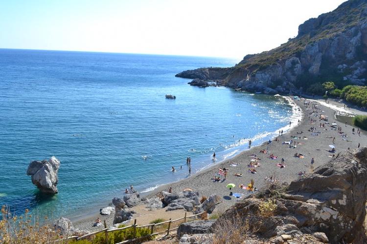 Пляж Превели, Крит