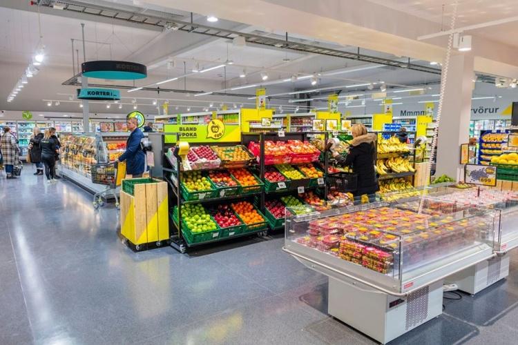 Сеть супермаркетов Кронан в Исландии