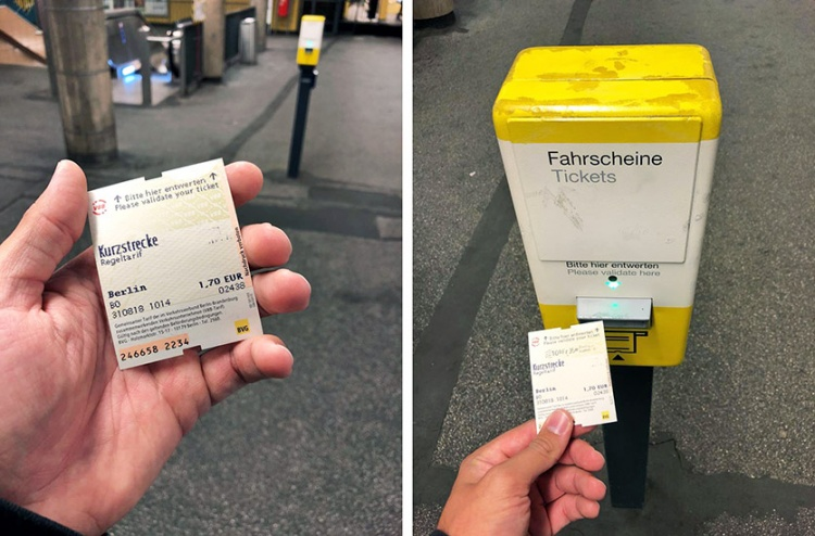 Kurzstrecke билет в Берлине