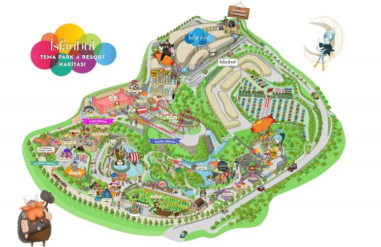 Карта парка Исфанбул в Стамбуле