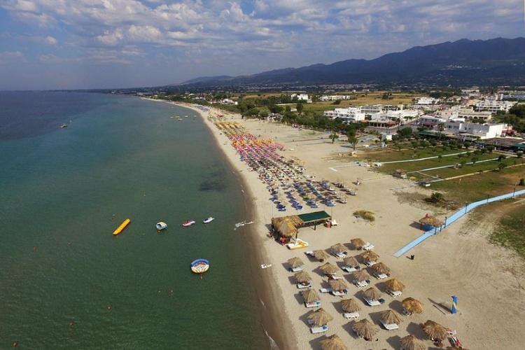 Пляж Тигаки, Греция