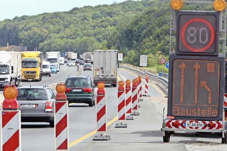 Штрафы за превышения лимита скорости в Германии