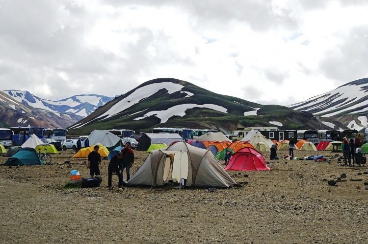 Ночевка в палатках в Исландии