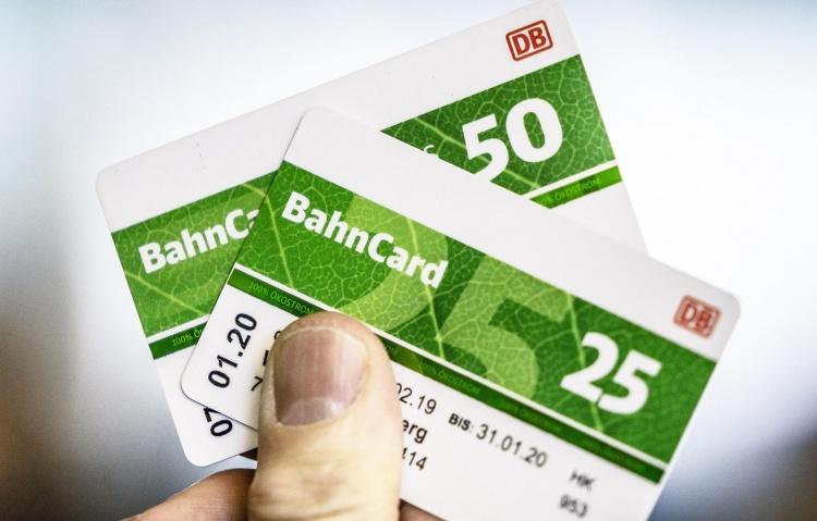 Bahn Card 25 и 50 для проезда в Германии
