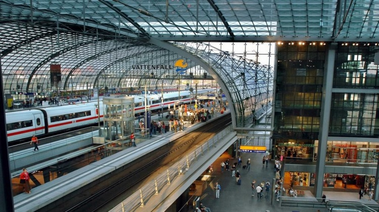 Инфраструктура на вокзале в Германии