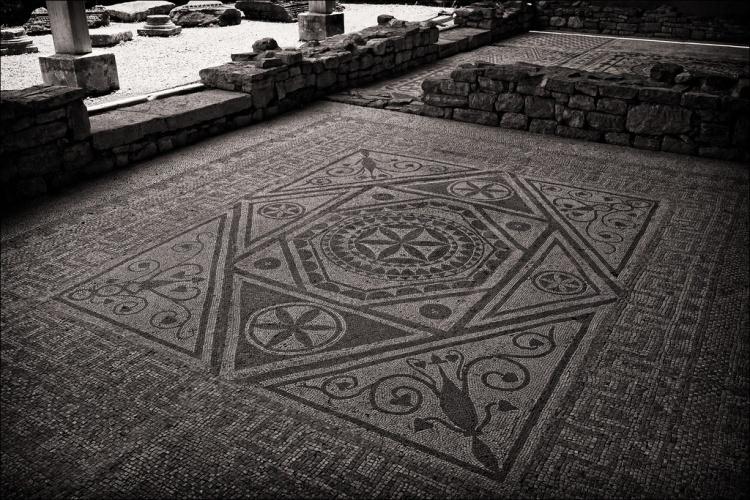 Римская мозаика в Рисан, Черногория