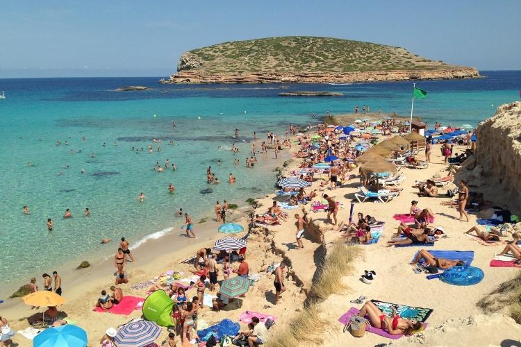 Кала Конта пляж на Ибице