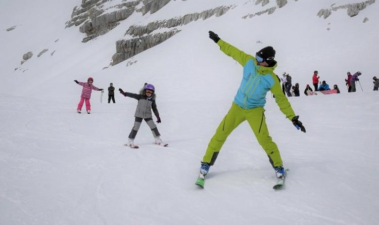 Обучение катанию на лыжах в Бовец