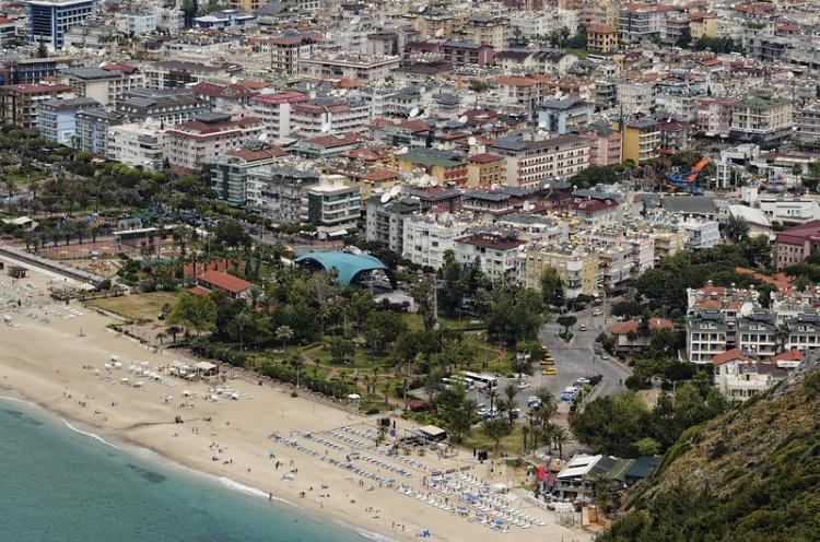 Пляж Клеопатра в Турции