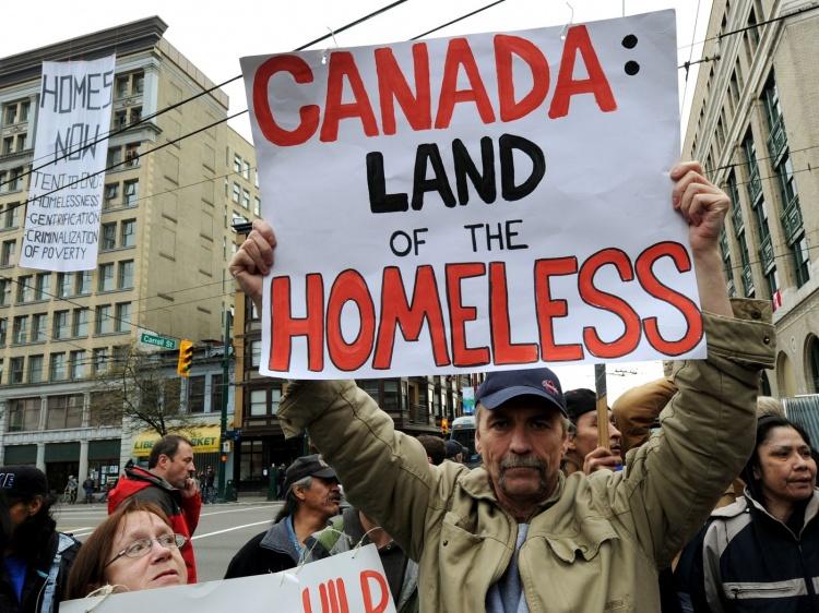 Проблема бездомных в Канаде