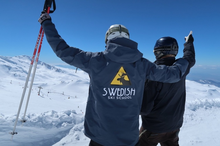 Шведская школа лыжников в Сьерра Неваде