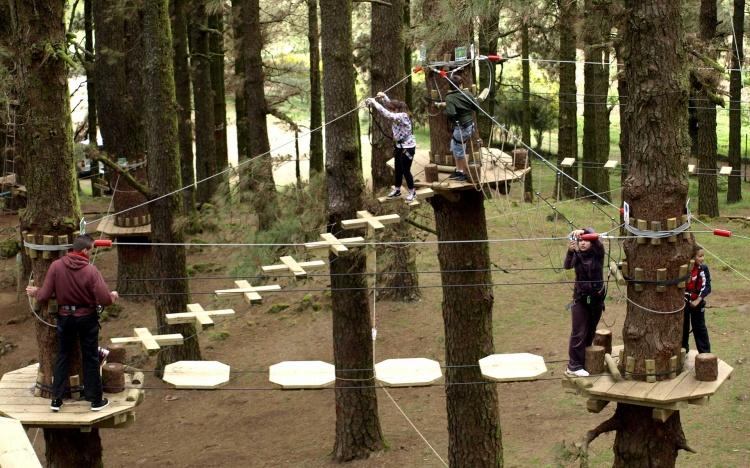 Веревочный парк для детей на Тенерифе
