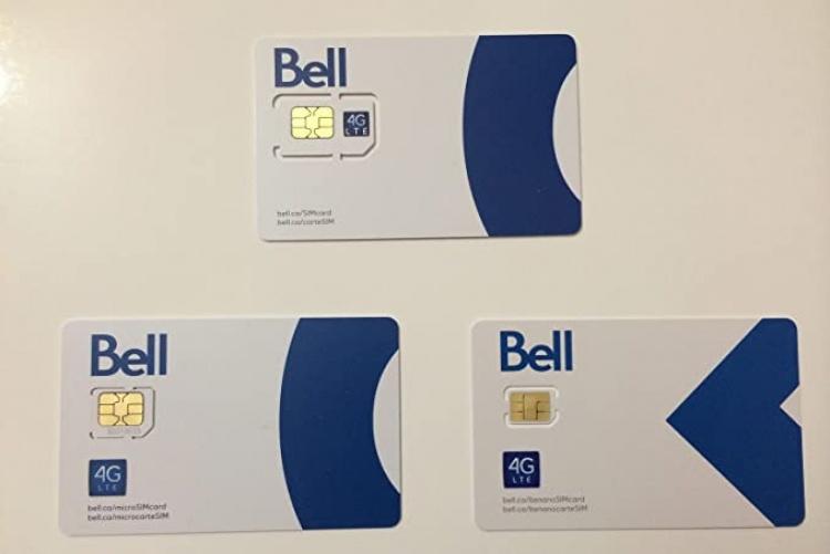 Сим-карты мобильного оператора Bell в Канаде