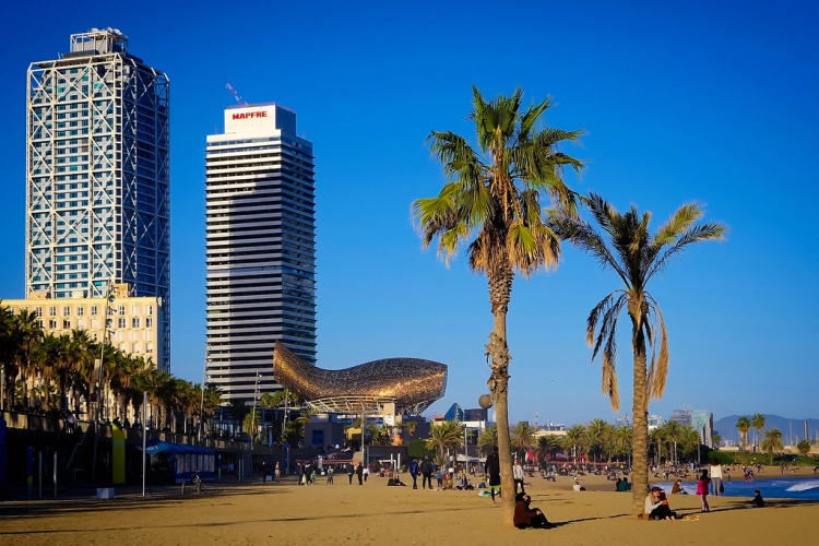 Пляжи в Барселоне, Пляж Llevan