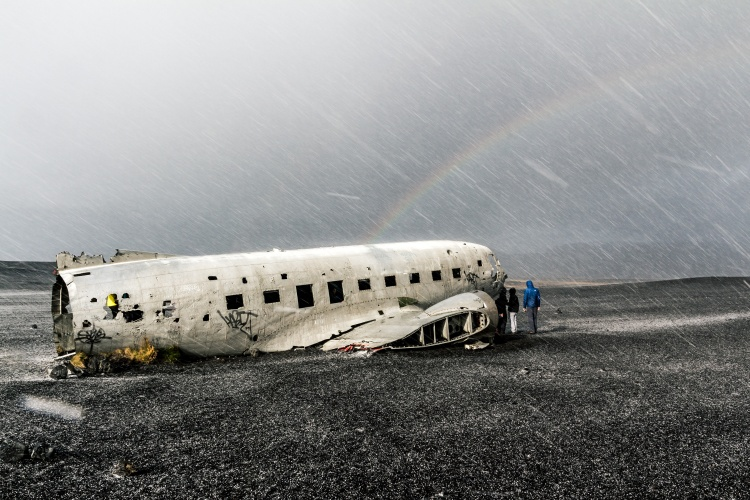 Место крушение самолета DC-3 в Исландии