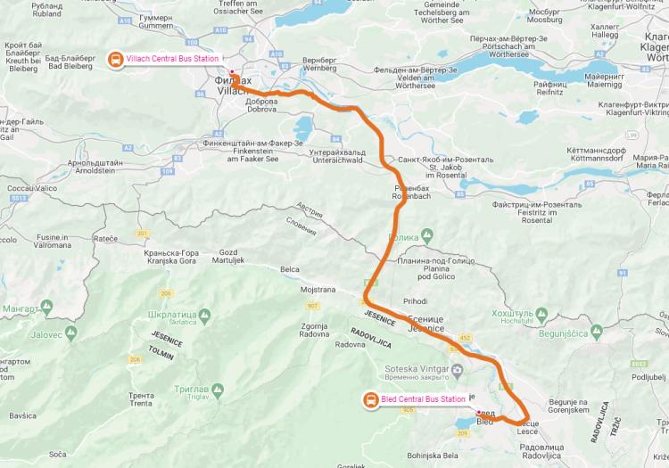 Как добраться из Австрии в Блед ,Словения