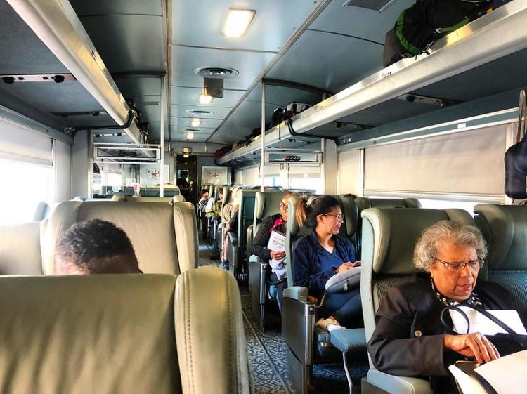 Удобства в поездах Канады