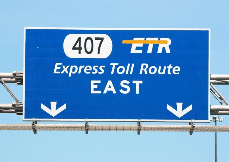 Платная дорога 407 Express Toll Route в Канаде