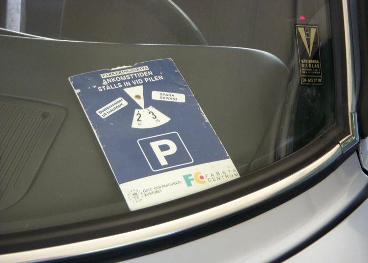 Parkscheibe для парковки в Германии