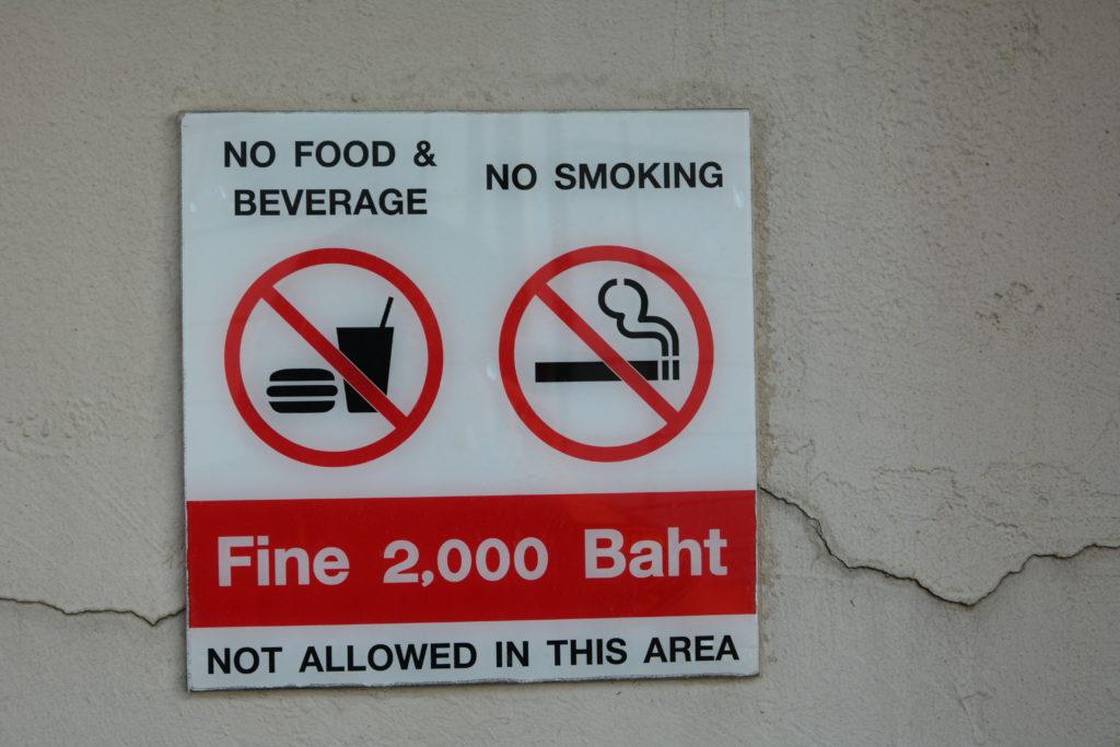 Разрешения и запреты на курение в Таиланде