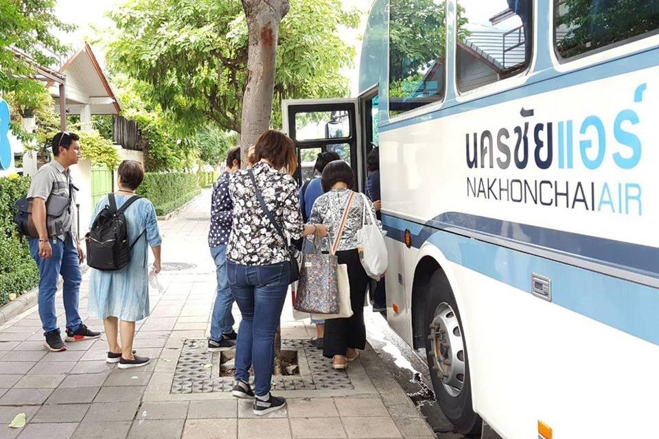 Посадка на тайский автобус